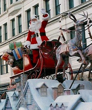 Santa Phil in christmas Parade