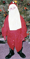 Santa Phil as Santa Claus child